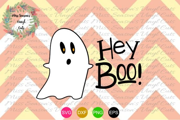 Download Free Hey Boo Svg Halloween Svg Graphic By Missseasonsvinylcuts for Cricut Explore, Silhouette and other cutting machines.