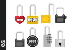 Padlock Vector Set Bundle Graphic By Arief Sapta Adjie