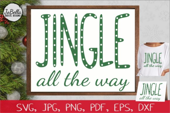 Download Free Jingle Bells Printable Graphic By Jobella Digital Designs Creative Fabrica for Cricut Explore, Silhouette and other cutting machines.