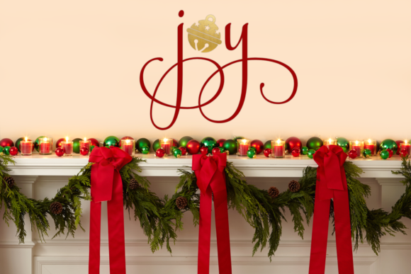 Christmas Joy with Bell Graphic Crafts By DesignedByGeeks