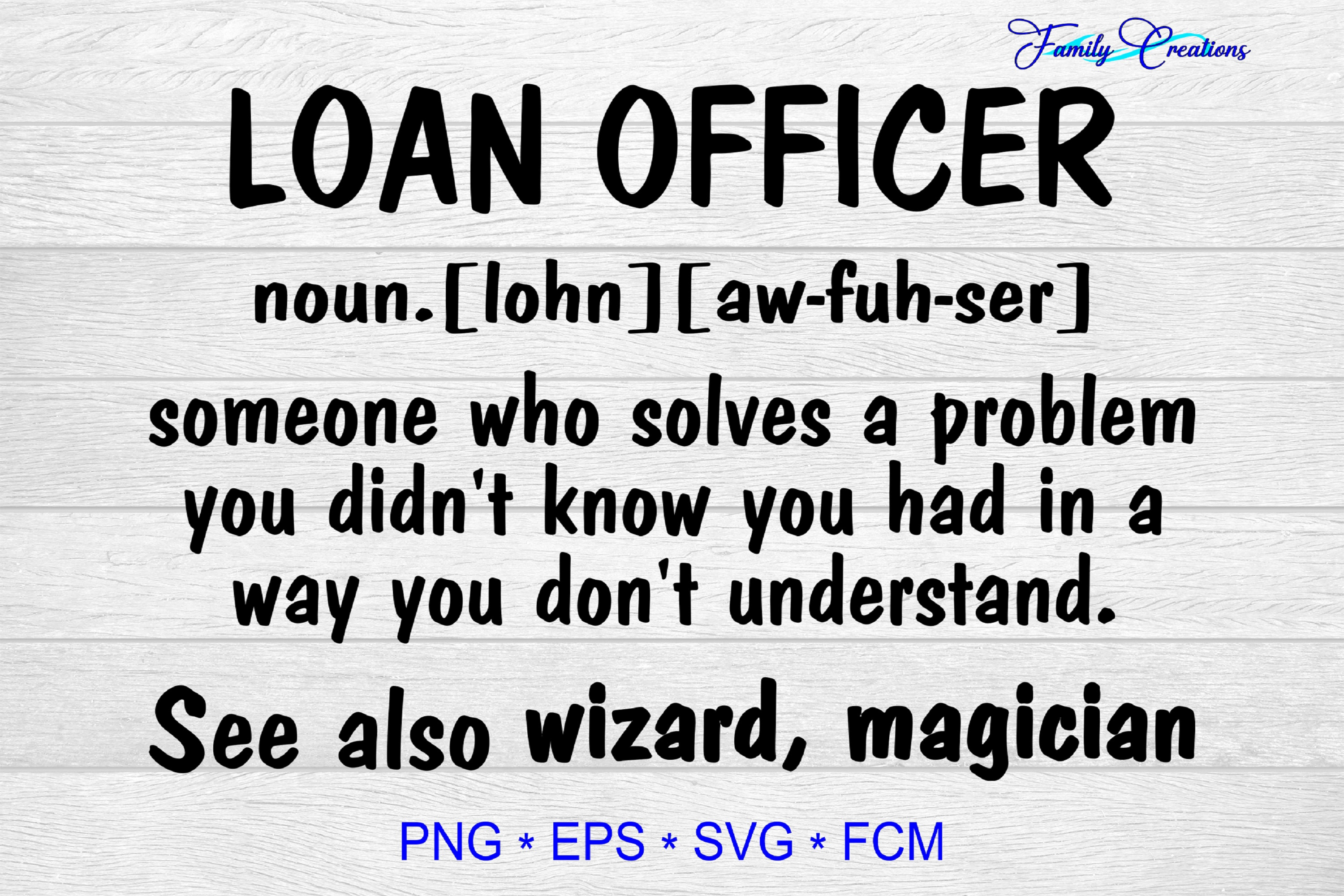 Download Free Loan Officer Graphic By Family Creations Creative Fabrica SVG Cut Files