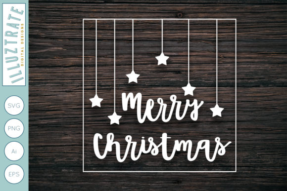 Merry Christmas Cut File Graphic By Illuztrate Creative Fabrica