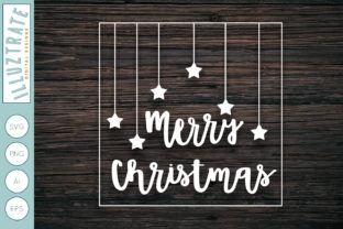 Download Free Merry Christmas Cut File Graphic By Illuztrate Creative Fabrica for Cricut Explore, Silhouette and other cutting machines.
