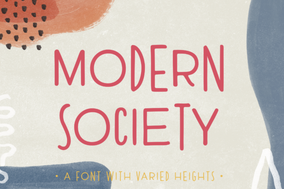 Print on Demand: Modern Society Sans Serif Font By Ayca Atalay - Image 1