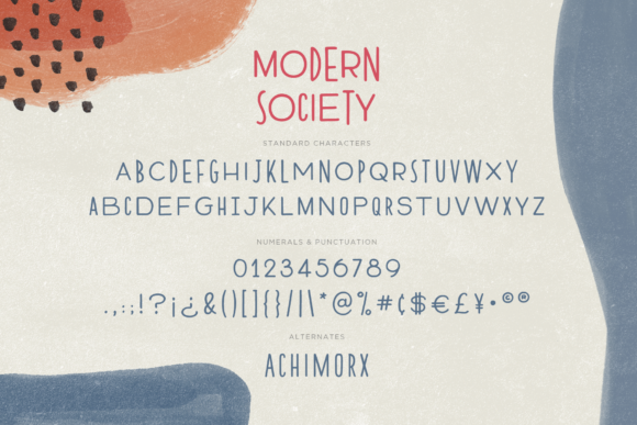 Print on Demand: Modern Society Sans Serif Font By Ayca Atalay - Image 10
