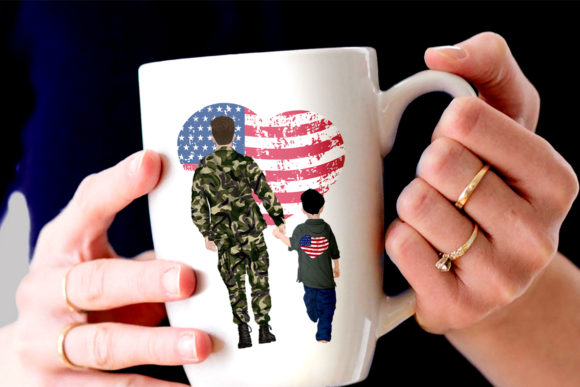 Army Family Solider Man in Uniform Graphic Illustrations By LeCoqDesign - Image 5