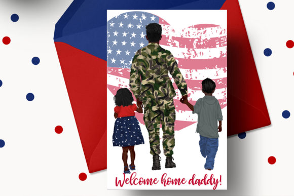 Army Family  Solider Man in Uniform Graphic Illustrations By LeCoqDesign - Image 6