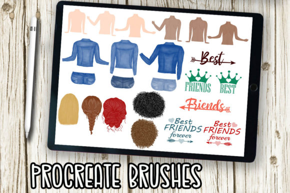 Procreate Brushes, Stamp Brushes, Girls Graphic Brushes By ChiliPapers