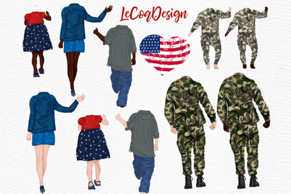 Army Family  Solider Man in Uniform Graphic Illustrations By LeCoqDesign - Image 2
