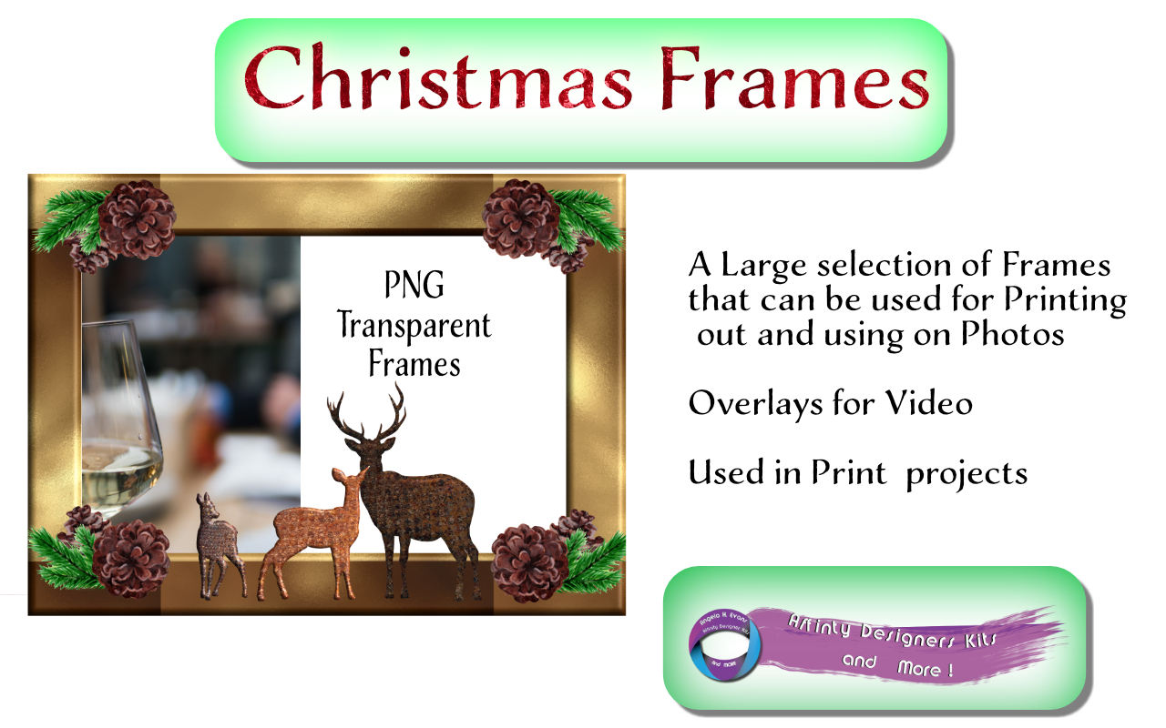Download Free Christmas Celebration Frames Graphic By Angela H Evans for Cricut Explore, Silhouette and other cutting machines.