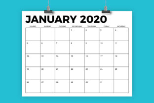 Print on Demand: 8.5 X 11 Inch Bold 2020 Calendar Graphic Print Templates By Running With Foxes 1