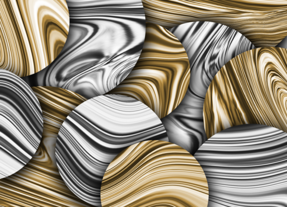 Print on Demand: Liquid Gold and Silver Textures Graphic Textures By La Oliveira - Image 2