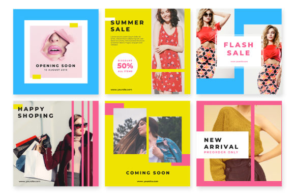 Download Free Social Media Templates Fashion Design Graphic By Discof Std for Cricut Explore, Silhouette and other cutting machines.