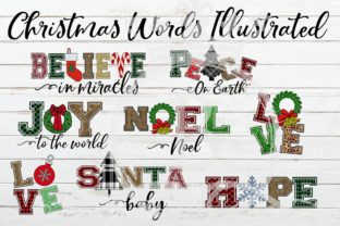 Christmas Words Ilustrated Graphic By BellaUniquePrintique