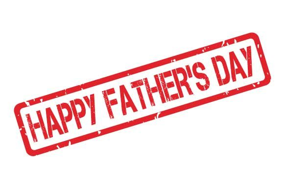 Print on Demand: Happy Father's Day Rubber Stamp Stencil Graphic Illustrations By GraphicsFarm
