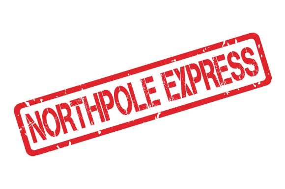 Northpole Express Rubber Stamp Stencil Graphic By Graphicsfarm