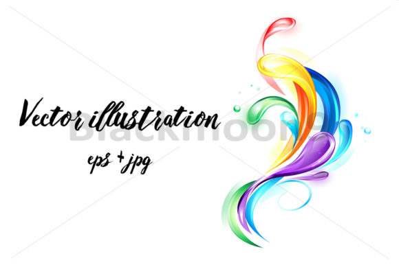 Download Free Rainbow Light Drops Graphic By Blackmoon9 Creative Fabrica for Cricut Explore, Silhouette and other cutting machines.