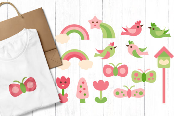 Print on Demand: Spring Nature Graphic Illustrations By Revidevi