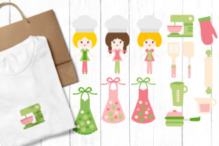 Print on Demand: Baking Chef Kitchen Graphic Illustrations By Revidevi
