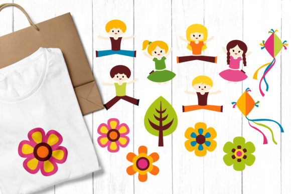Print on Demand: Spring Kids Graphic Illustrations By Revidevi