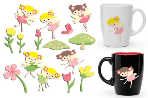 Print on Demand: Spring Fairy Girls Graphic Illustrations By Revidevi