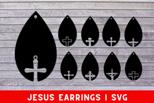 Download Free Jesus Earrings Graphic By Mockup Venue Creative Fabrica for Cricut Explore, Silhouette and other cutting machines.