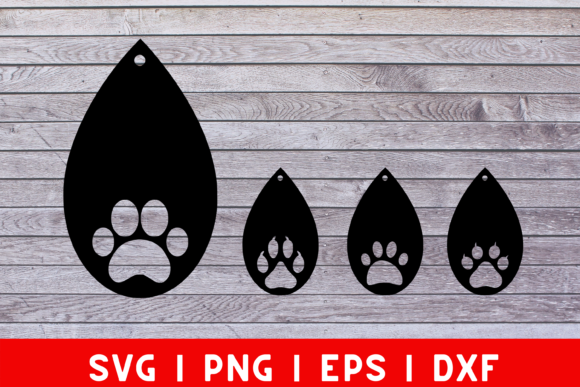 Download Free Dog Paw Earrings Svg Cut File For Cricut Graphic By Mockup Venue SVG Cut Files