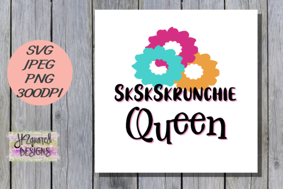 Print on Demand: SkSkrunchie Queen Graphic Objects By jk2quareddesigns