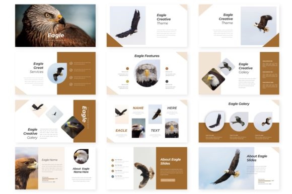 Download Free Eagle Creative Powerpoint Graphic By Infinity Vector Creative for Cricut Explore, Silhouette and other cutting machines.