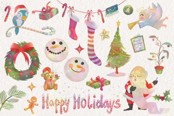 Season's Greetings Graphics Set Graphic Illustrations By Dapper Dudell - Image 2