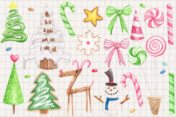 Gingerbread Land Watercolor Collection Graphic Illustrations By Dapper Dudell - Image 3