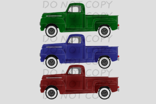 Set of 3 Colored Trucks Graphic By rebecca19
