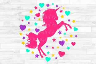 Download Free Unicorn With Hearts And Stars Graphic By Printsofpop Creative SVG Cut Files