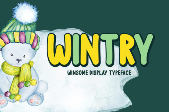 Print on Demand: Wintry Display Font By Instagram Fonts