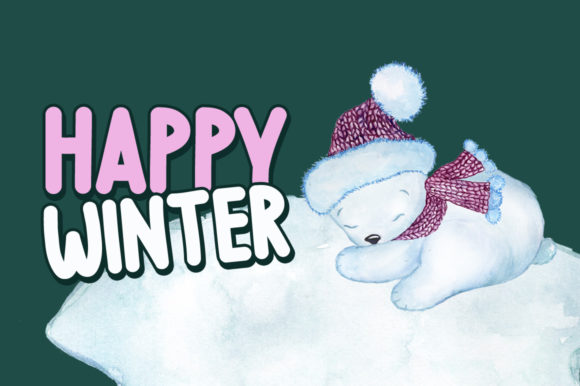Print on Demand: Wintry Display Font By FontEden - Image 4