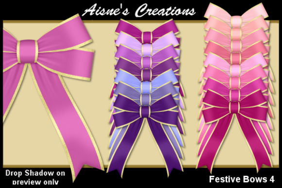 Print on Demand: Festive Bows 4 Graphic Objects By Aisne