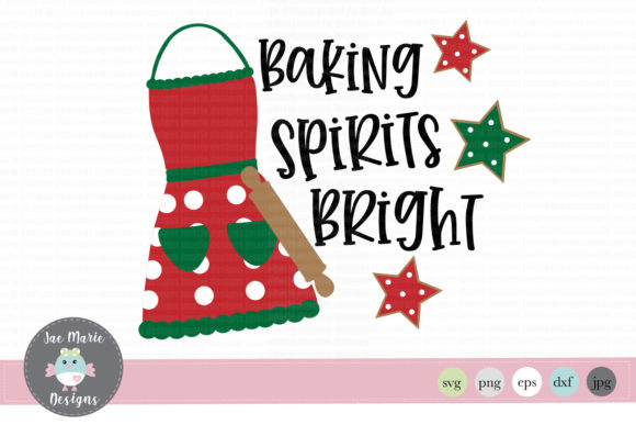 Download Free Baking Spirits Bright Svg Graphic By Thejaemarie Creative Fabrica for Cricut Explore, Silhouette and other cutting machines.