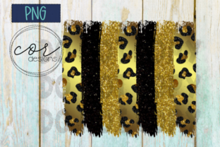 Leopard - Black - Glitter Sublimation Graphic By designscor