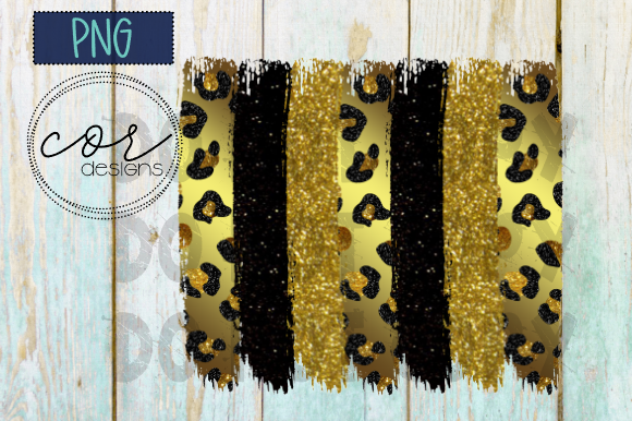 Print on Demand: Leopard - Black - Glitter Sublimation Graphic Crafts By designscor