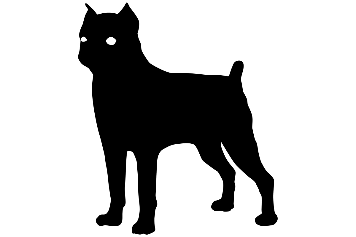 Download Free Brussels Griffon Dog Silhouette Graphic By Idrawsilhouettes for Cricut Explore, Silhouette and other cutting machines.