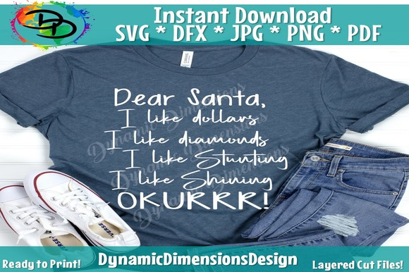 Download Free Dear Santa Svg Christmas Shirt Grafico Por Dynamicdimensions for Cricut Explore, Silhouette and other cutting machines.