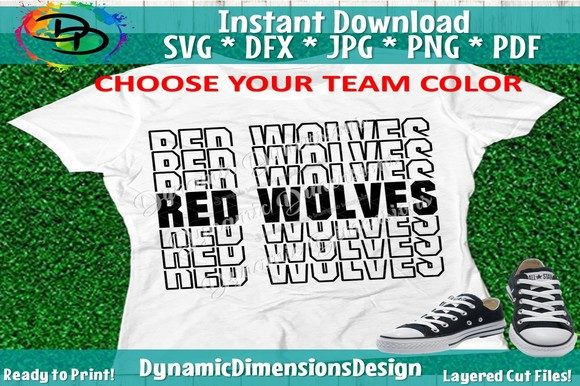 Red Wolves Svg, Red Wolves Team Svg Graphic Crafts By dynamicdimensions
