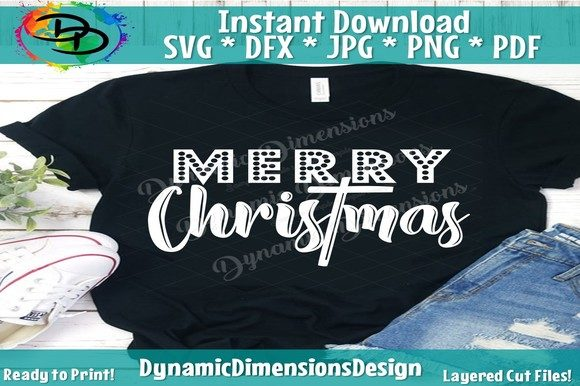 Merry Christmas Svg Merry And Bright Graphic By