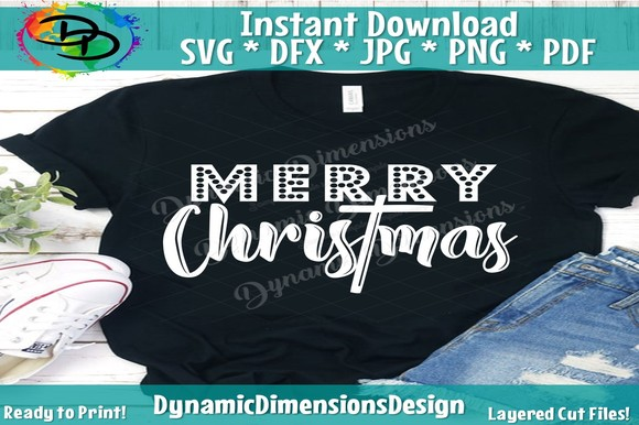 Download Free Merry Christmas Svg Merry And Bright Graphic By for Cricut Explore, Silhouette and other cutting machines.