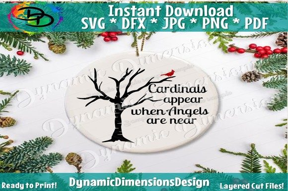 Download Free In Memory Svg Cardinals Appear Graphic By Dynamicdimensions for Cricut Explore, Silhouette and other cutting machines.