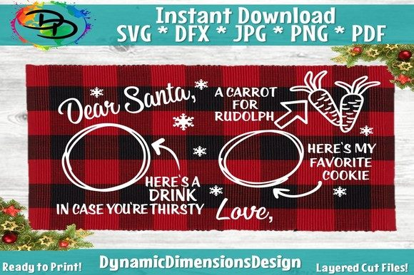 Dear Santa Cookies Tray SVG Graphic By dynamicdimensions