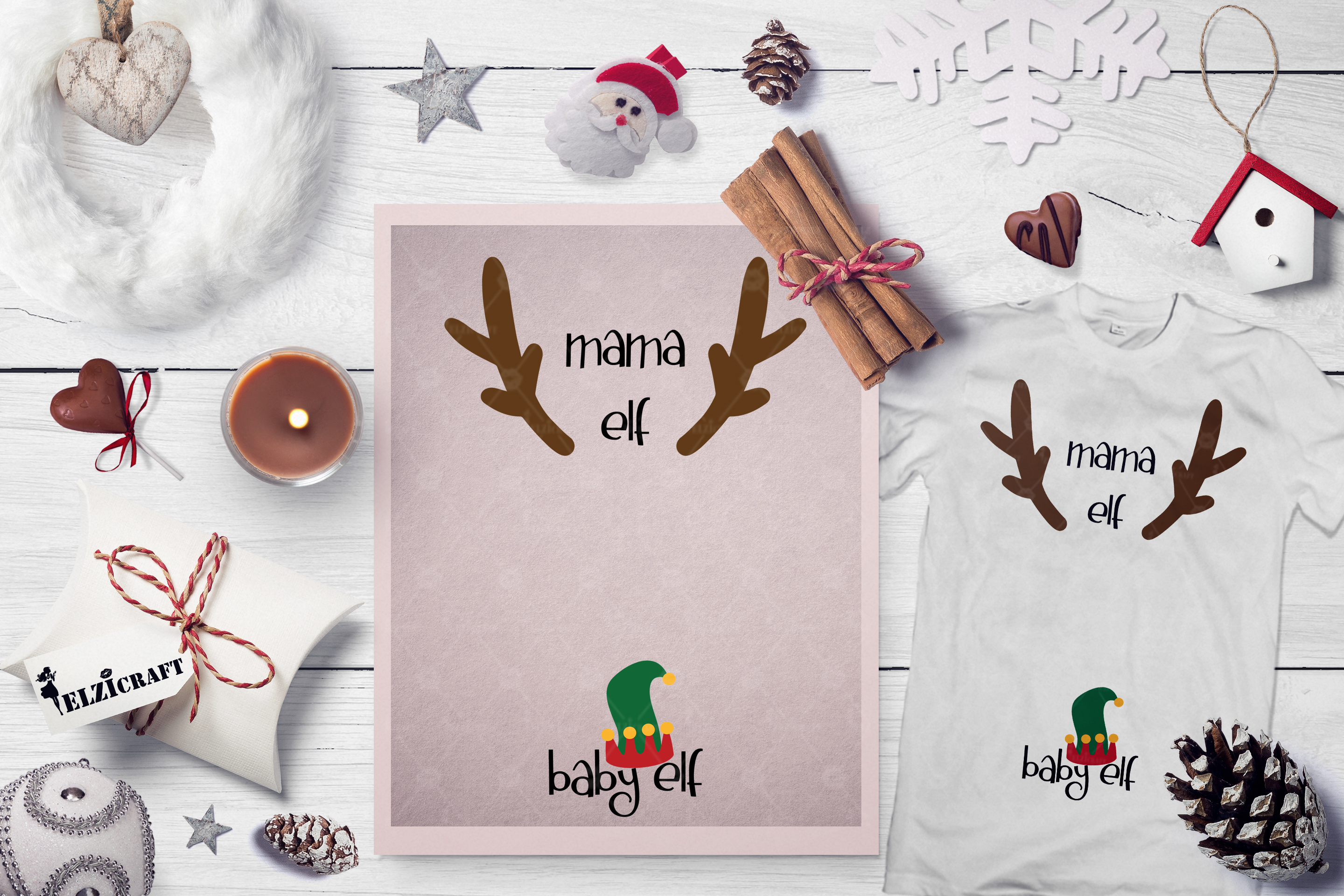 Download Free Mama And Baby Elf Baby Birth Pregnant Graphic By Elzicraft for Cricut Explore, Silhouette and other cutting machines.