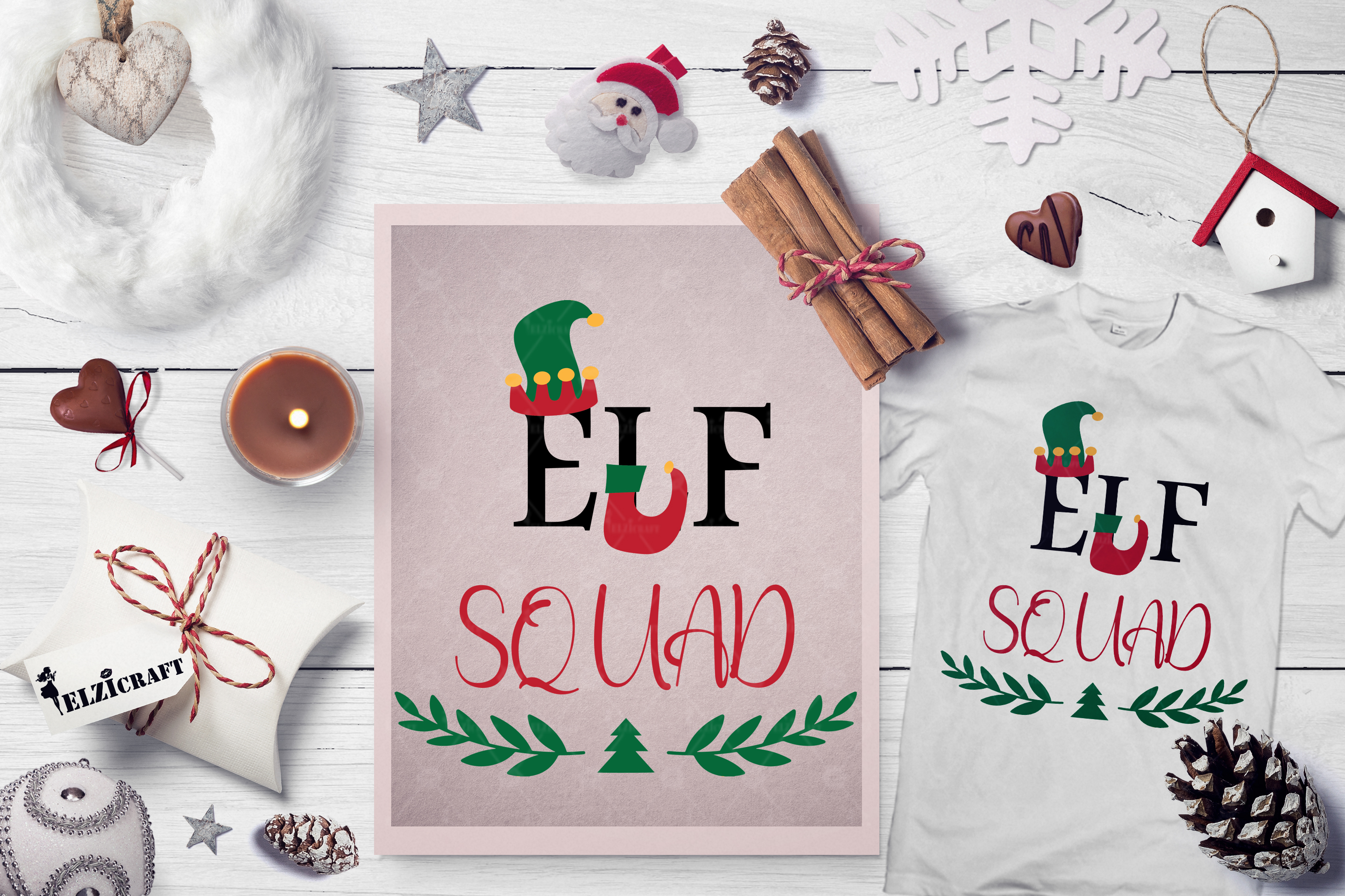 Download Free Elf Squad Christmas Squad Elf Crew Graphic By Elzicraft for Cricut Explore, Silhouette and other cutting machines.
