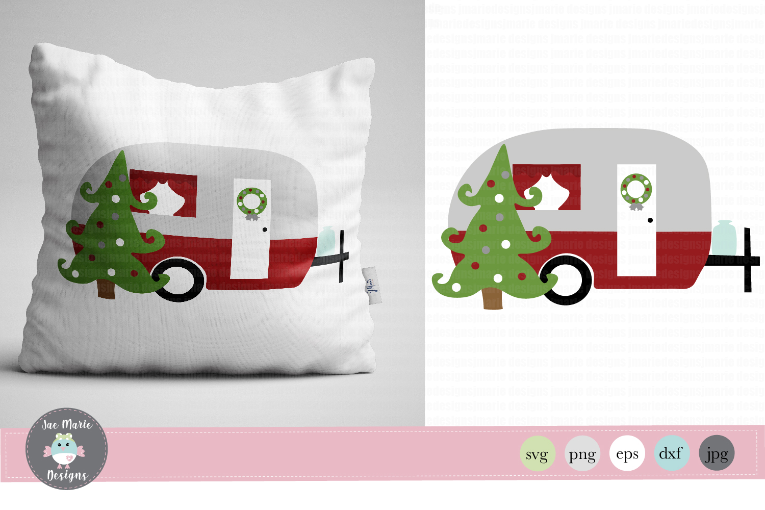 Download Free Christmas Camper Graphic By Thejaemarie Creative Fabrica for Cricut Explore, Silhouette and other cutting machines.