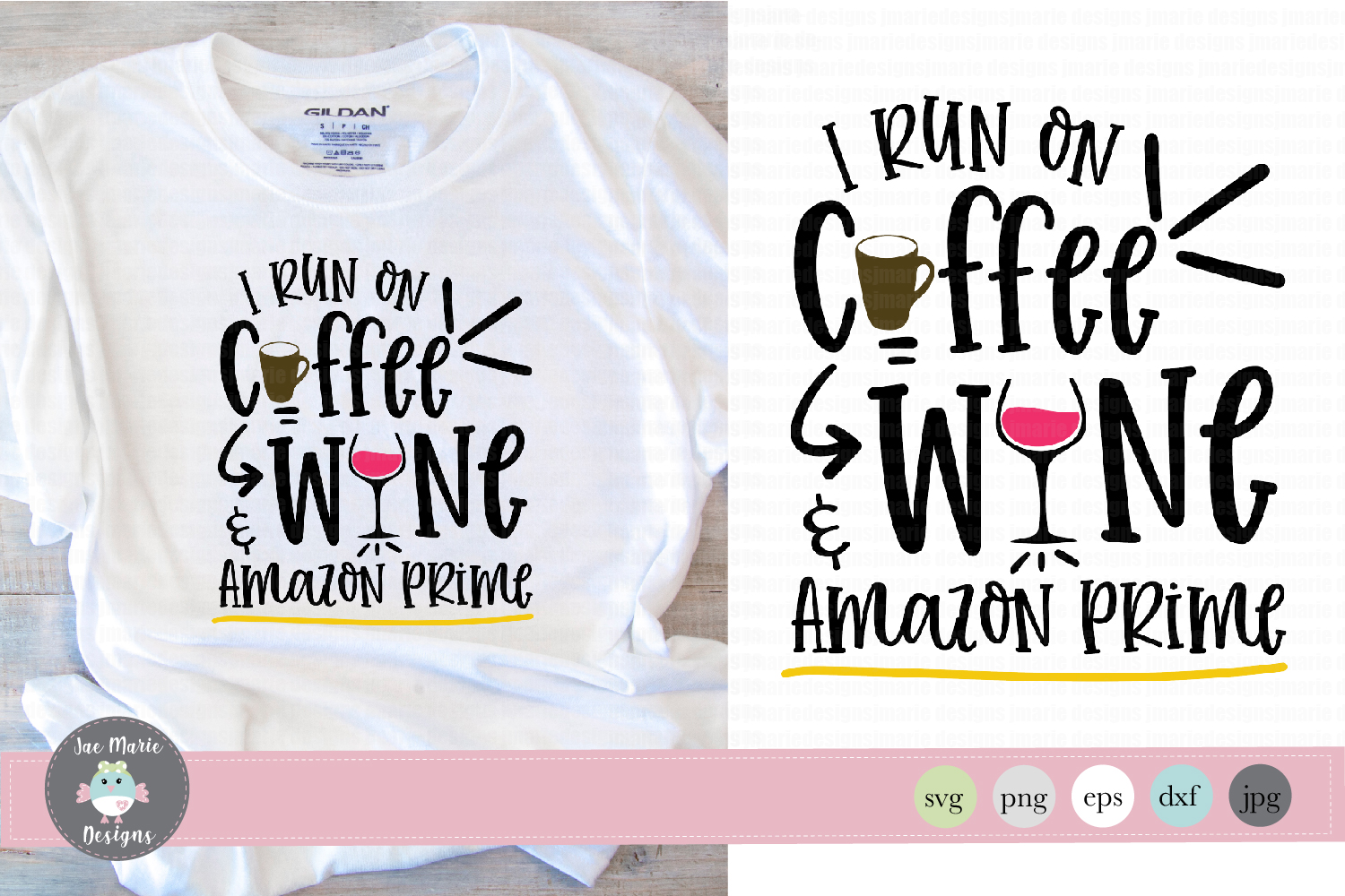 Download Free Coffee Wine And Amazon Prime Graphic By Thejaemarie Creative for Cricut Explore, Silhouette and other cutting machines.